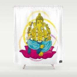 01 - GANESHA Shower Curtain
