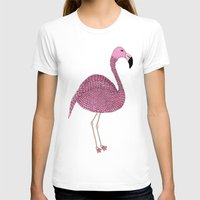 flamingo T-shirts featuring Flamingo by Frida Strömshed