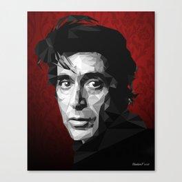 Al Pacino low poly Canvas Print