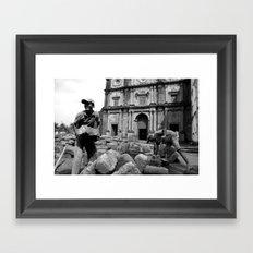 Brickwork (b/w) Framed Art Print