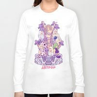 artrave Long Sleeve T-shirts featuring ARTRAVE Poster illustration by Jaimie Hutton