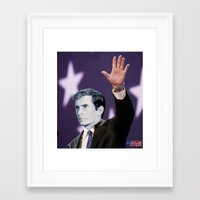 american psycho Framed Art Prints featuring American Psycho by Marko Köppe