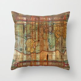 Antique World Throw Pillow