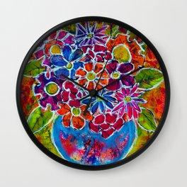 MARKET FLOWERS IN VASE Wall Clock
