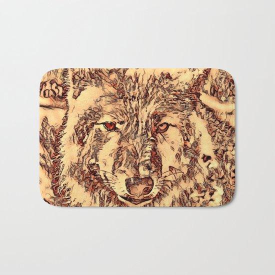 Animal ArtStudio - amazing Wolf Bath Mat