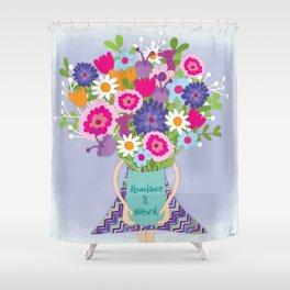 Abundance is Natural Shower Curtain