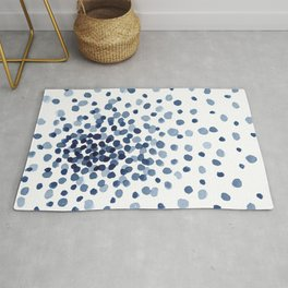 Explosion of Blue Confetti Rug