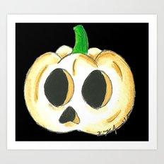 Skull Lantern Art Print