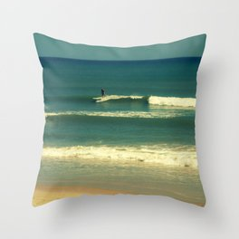 The Surfer Guy Throw Pillow