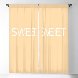 Sweet apricot gelato Blackout Curtain