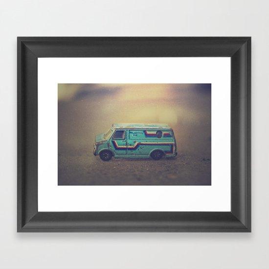 delightful van Framed Art Print