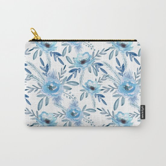 Blue roses. Watercolor Carry-All Pouch