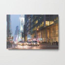 42nd Street Rush - New York City Photography Metal Print