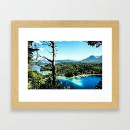 Greeen & Blue Framed Art Print