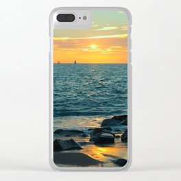 Sunset Sail Clear iPhone Case