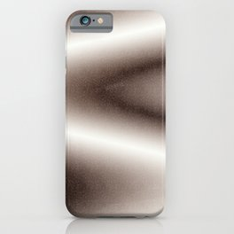 Brown and white gradient iPhone Case