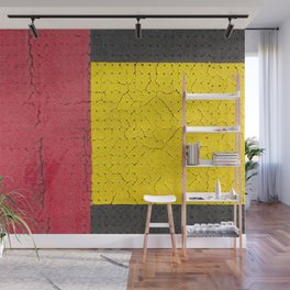 Red Grey Yellow Wall Mural