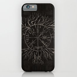 Vegvisir and Tree of life Yggdrasil iPhone Case