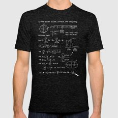 The answer to life, univers, and everything. MEDIUM Tri-Black Mens Fitted Tee