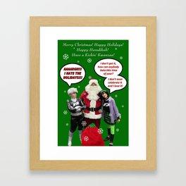 Danny Phantom Christmas and holiday card Framed Art Print