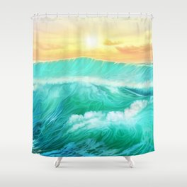 Light in a storm Shower Curtain