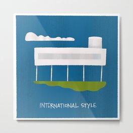 Architecture Series: International Style Metal Print