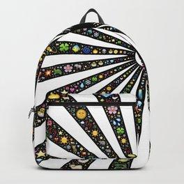 yin-yang rays radiate Backpack