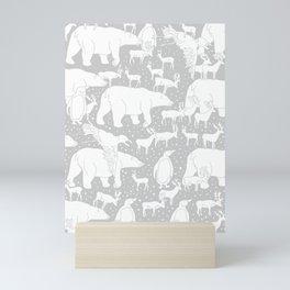 Polar gathering (latte) Mini Art Print