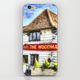 The Woodman Pub Ongar Essex England iPhone Skin