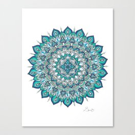 INTO THE BLUE Mandala Drawing Canvas Print