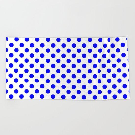 Polka Dots (Blue/White) Beach Towel