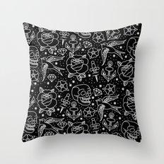 Black flash Throw Pillow