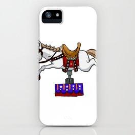 illustration of mechanical unicorn iPhone Case