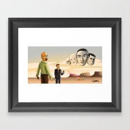 Breaking Bad: Walter's Adversaries  Framed Art Print