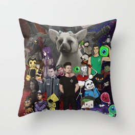 Super Duper Awesome JackSepticEye Poster Throw Pillow