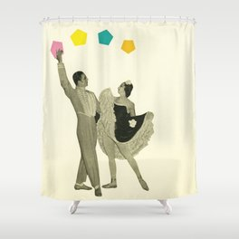 Throwing Shapes on the Dance Floor Shower Curtain