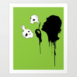 Her Name Was Death Art Print