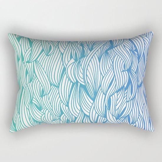 Ombré Waves Rectangular Pillow