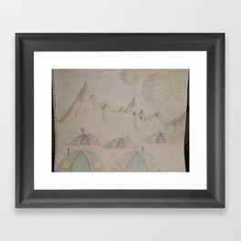Planetary camping Framed Art Print