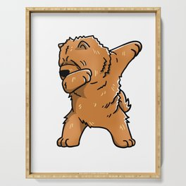 Funny Dabbing Chow Chow Dog Dab Dance Serving Tray