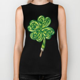 Clover - Make own luck Biker Tank