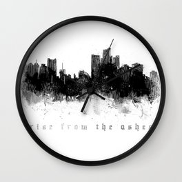 Detroit Rise From The Ashes Wall Clock