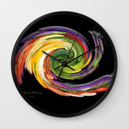 The whirl of life, W1.9B Wall Clock