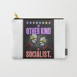 "Vintage ""The Other Kind of Socialist"" Alcoholic Lithograph Advertisement in multi-colors Carry-All Pouch"