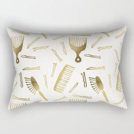 Good Hair Day – Gold Palette Rectangular Pillow