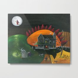 Hilly Haunted House Metal Print