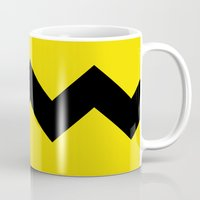 charlie brown Mugs featuring Charlie Brown by Dustin Hall