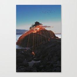 Night sky on fire Canvas Print