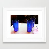 cosima Framed Art Prints featuring Check Please by Cosima Higham