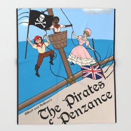 Pirates of Penzance Poster Throw Blanket